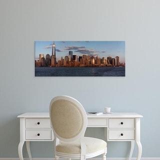 Easy Art Prints Panoramic Image 'New York City Skyline, One World Trade Center, Freedom Tower' Canvas Art