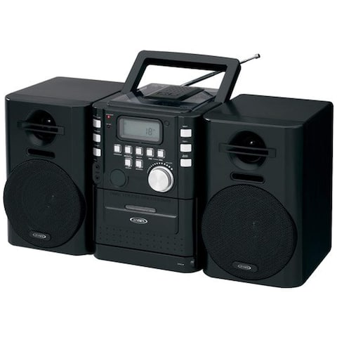 JENSEN JENCD725B Jensen CD725 High Quality Audio CD/Cassette Mini System - Multicolor