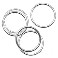 Antiqued Silver Plated Open Jump Rings 5mm 20 Gauge (50)