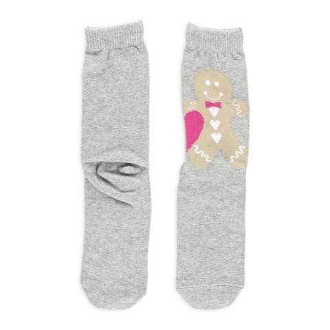 Aeropostale Womens Gingerbread Couple Lightweight Socks - One Size