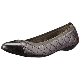 Anne Klein Womens OFFERED Cap Toe Ballet Flats