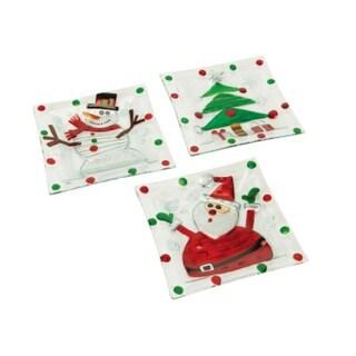 Santa Claus 4 Piece Soup Salad Plate Set Free Shipping