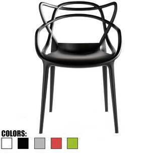 2xhome-single Modern Contemporary Design Master Black Dining ArmChairs