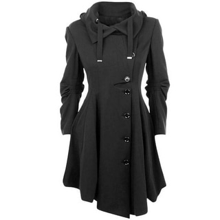 Link to Coat Stand Collar Long Sleeve Women Overcoat Elegant Single-Breasted Slim Similar Items in Women's Outerwear