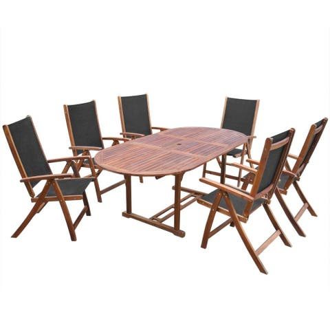 7 pc Outdoor Dining Set Garden Patio Deck Pool Dining Furniture 1 Table 6 Chairs