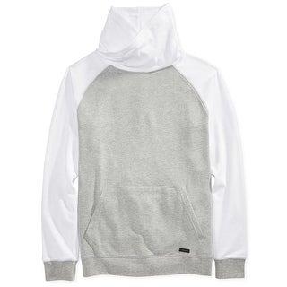 Univibe NEW Gray White Men Size XL Funnel-Neck Colorblock Sweater