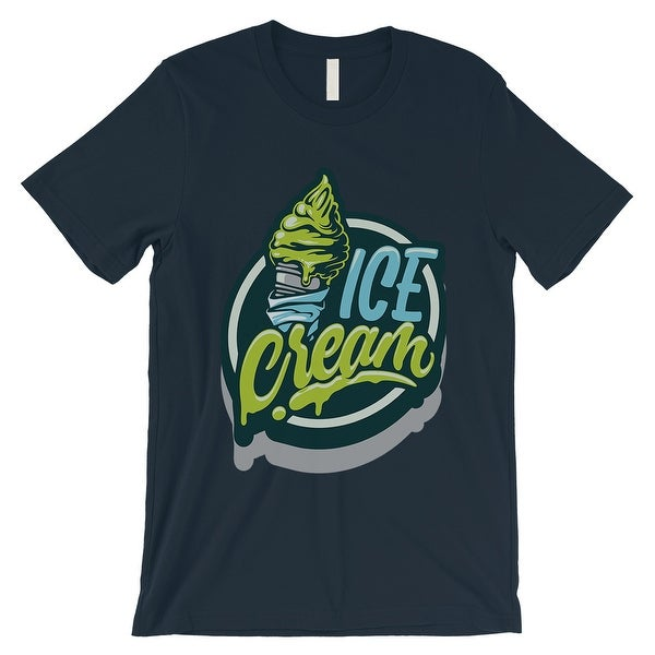 1cb3720b4 Shop Green Ice Cream Mens Navy Unique Vintage Style T-Shirt Unique Gifts -  On Sale - Free Shipping On Orders Over  45 - Overstock - 21505907