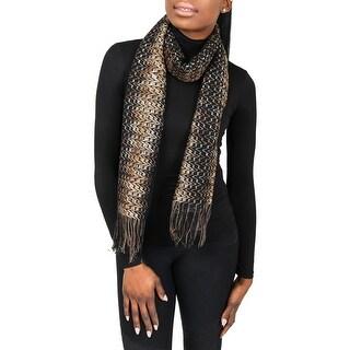 Missoni SC31VMD5177 0003 Brown/Black Wool Blend Womens Scarf - 16 - 67.5