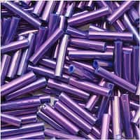 Toho Bugle Tube Beads Size 3 2x9mm Higher Metallic Grape 10 Grams