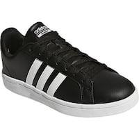 adidas Women's NEO Cloudfoam Advantage Stripe Court Shoe Core Black/FTWR White/Core Black