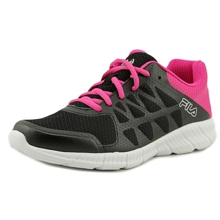 Fila Memory Finity Women  Round Toe Synthetic Black Running Shoe