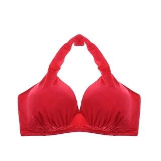 Fantasie Womens Swim Solid Halter Swim Top Separates - 32h