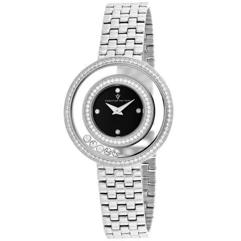 Christian Van Sant Women's Gracieuse Black Dial Watch - CV4830 - One Size