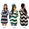 Women's Oversized Long Sleeve Tunic Tops - Thumbnail 0