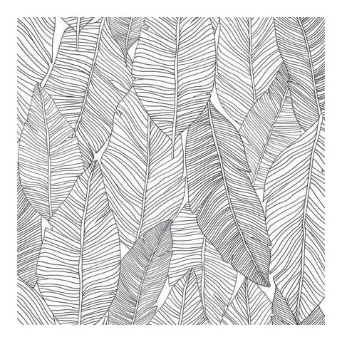 Thuy Grey Banana Leaves Wallpaper - 20.5 x 396 x 0.025