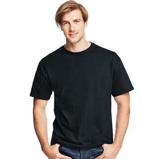 Hanes Men's TAGLESS® ComfortSoft® Crewneck T-Shirt - Size - 4XL - Color - Black