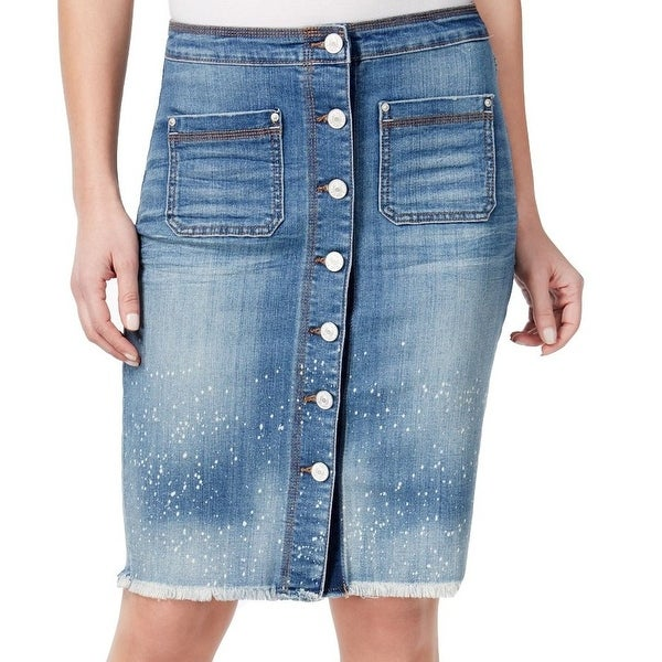87517e19f3 Shop Vintage America Blues NEW Blue Womens Size 4 Button-Front Pencil Skirt  - Free Shipping On Orders Over $45 - Overstock - 17899305