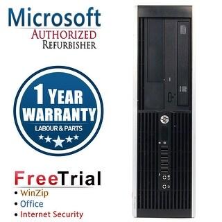 Refurbished HP Compaq Pro 6305 SFF AMD A4-5300B 3.4G 4G DDR3 250G DVD WIN 10 Pro 64 1 Year Warranty - Black