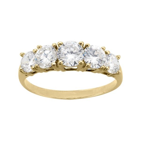 Ring with Cubic Zirconia in 10K Gold