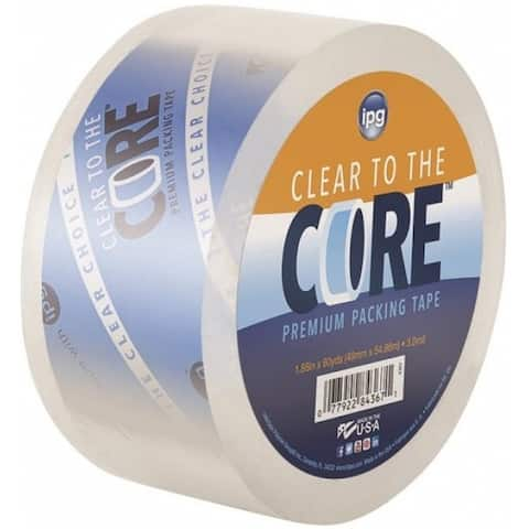 """IPG 99657 Clear To The Core Packing Tape, 1.88"""" x 60 Yard"""