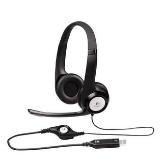 Logitech Clearchat Comfort H390 Usb Wired Pc Headset For Internet Calls And Music (981-000014)