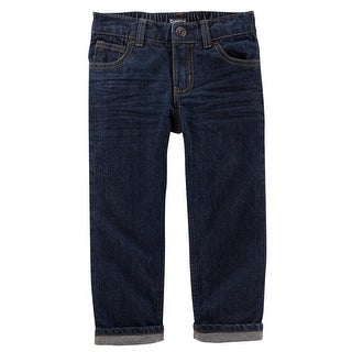 OshKosh B'gosh Little Boys' Microfleece-Lined Jeans, True Rinse Wash, 3 Toddler