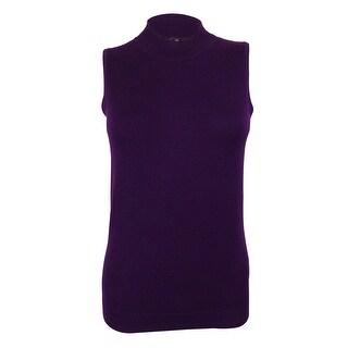 August Silk Women's Sleeveless Silk Blend Sweater Top - s