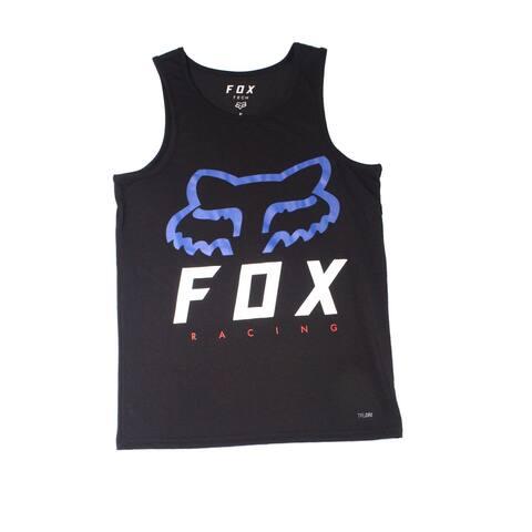 FOX Mens Shirt Black Size Small S Logo Graphic Print Premium Fit Tank 524