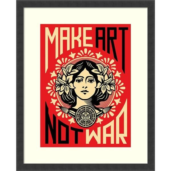 Framed Art Print 'Make Art Not War' by Shepard Fairey 24 x 30-inch. Opens flyout.