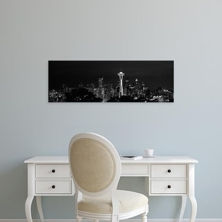 Easy Art Prints Panoramic Image 'Skyscrapers in city, Space Needle, Seattle, King County, Washington State' Canvas Art