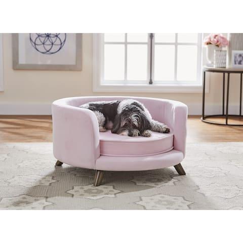 Enchanted Home Pet Rosie Pet Sofa - Blush Pink