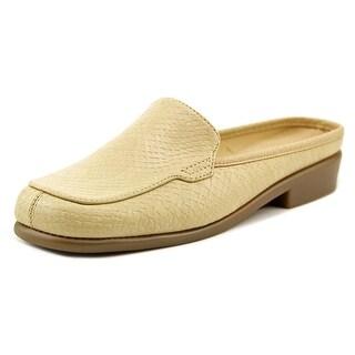 Aerosoles Duble Down Women W Square Toe Leather Tan Mules