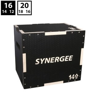 Synergee 3 in 1 Non-Slip Wood Plyometric Box for Jump Training and Conditioning