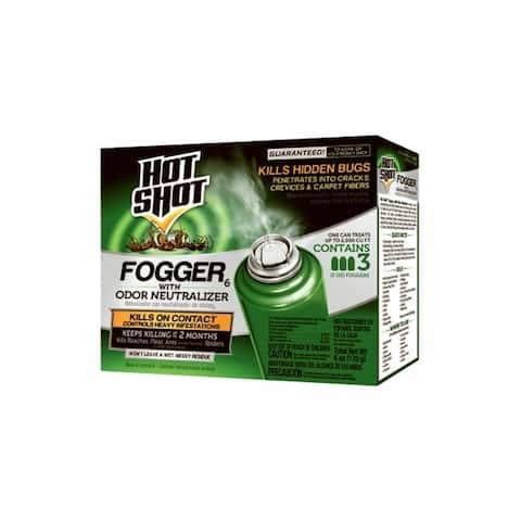 Hot Shot HG-96180 Indoor Fogger with Odor Neutralizer, 2 Oz, 3-Pack