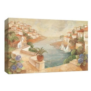 "PTM Images 9-153995  PTM Canvas Collection 8"" x 10"" - ""Mediterranean Hilltown"" Giclee Cityscapes Art Print on Canvas"