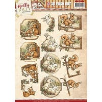 Holly Jolly Animals-Find It Trading Yvonne Creations Punchout Sheet