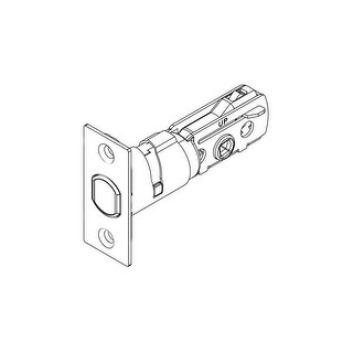 Kwikset 83370 Adjustable Backset Square Corner Deadbolt Latch