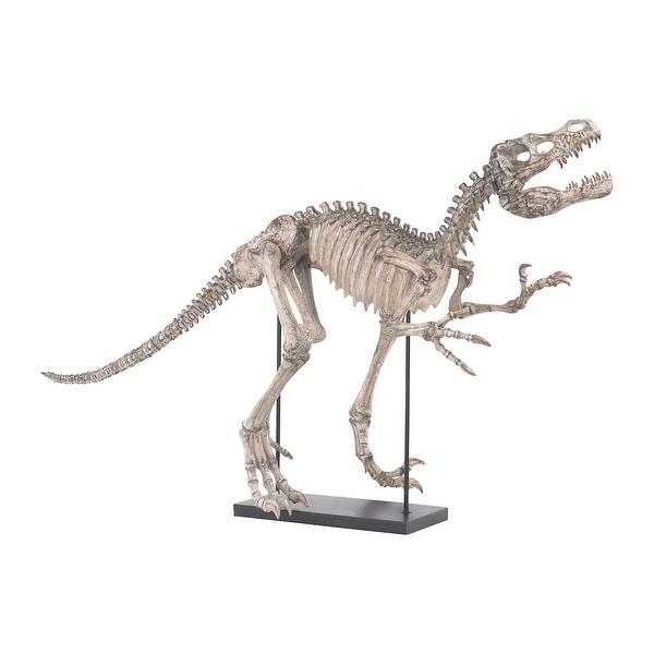 GuildMaster 2182-025 Tyrannos Composite Dinosaur Skeleton Statue - Aged Bone