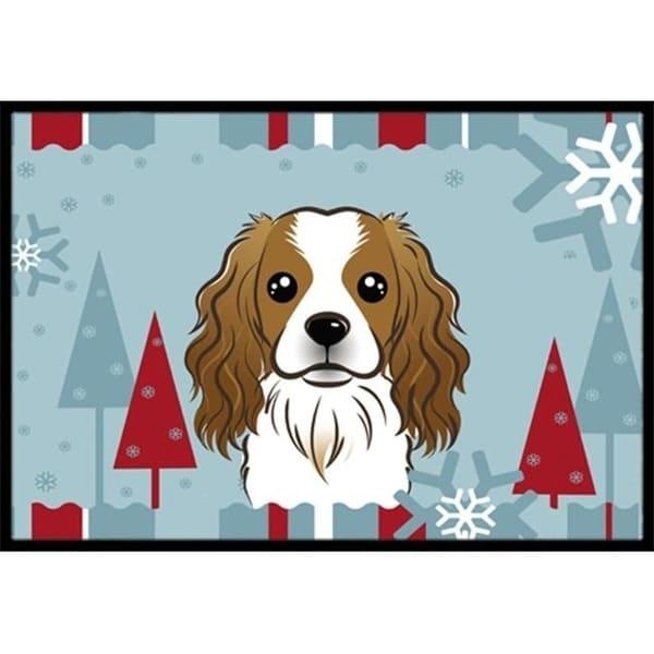 Carolines Treasures BB1720MAT Winter Holiday Cavalier Spaniel Indoor & Outdoor Mat 18 x 27 in.
