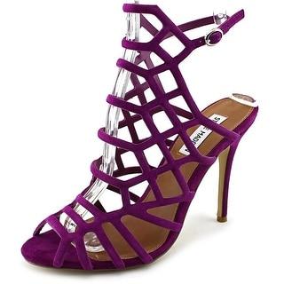 Steve Madden Slithur Women Open Toe Leather Sandals