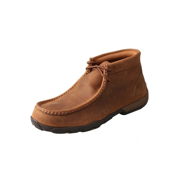 Twisted X Casual Shoes Womens Leather Driving Moc WP Up Saddle