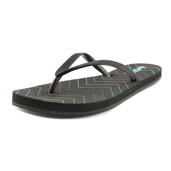 Reef Stargazer Prints Women Open Toe Synthetic Black Flip Flop Sandal