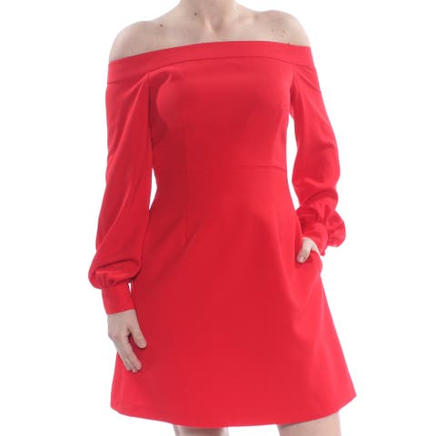 JILL STUART Red Long Sleeve Above The Knee A-Line Dress Size 6