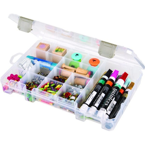 "ArtBin Solutions Box 4-16 Compartments-10.75""X7.375""X1.75"" Translucent"