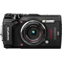 Olympus - Tough TG-5 12.0-Megapixel Water-Resistant Digital Camera - Black