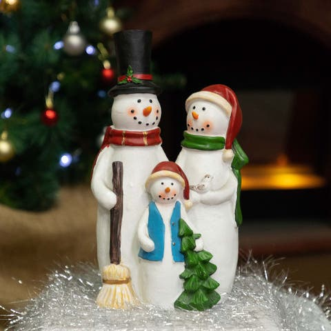 Alpine Corporation Snowman Family Statue