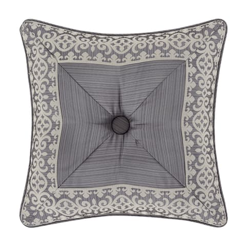 Five Queens Court Houston Embellished Decorative Throw Pillow