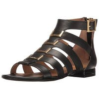 f291986881a8 Calvin Klein Womens Estes Cow Silk Leather Open Toe Casual Gladiator Sandals