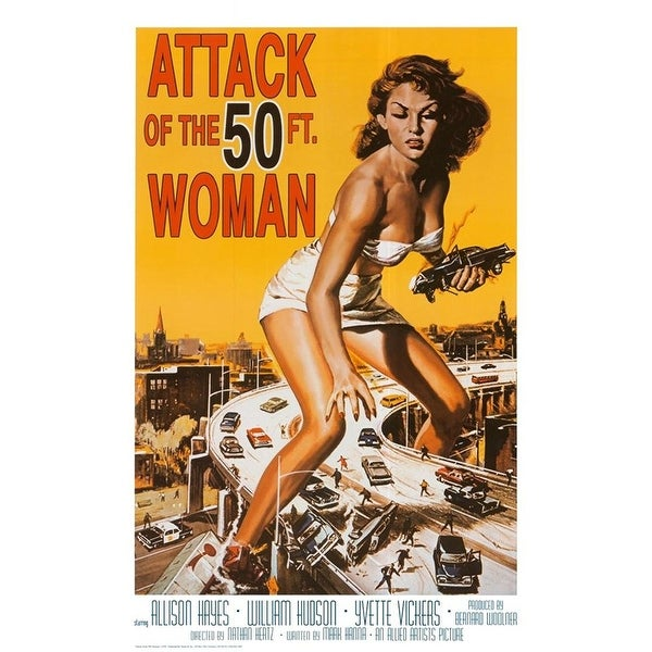 50 Ft Woman Movie Poster Cling Halloween Decoration