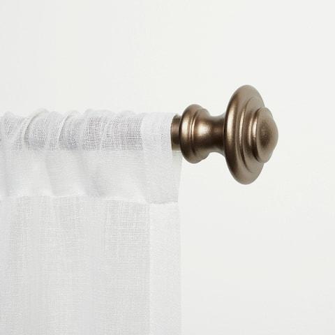 ATI Home Ozzi Window Curtain Rod and Finial Set